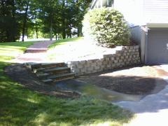Pelham, NH Retaining wall, Steps & Walkway