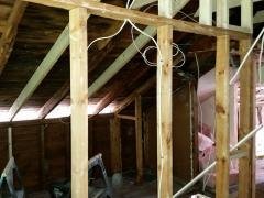 Pelham, NH New Framing, Soffit Venting and Insulation
