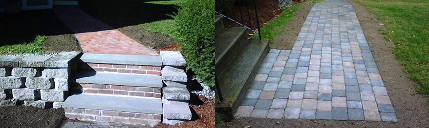 Salem, Windham, Pelham NH MA Hardscape - Patios, Walks, Stairs, Retaining Walls and Fire Pits