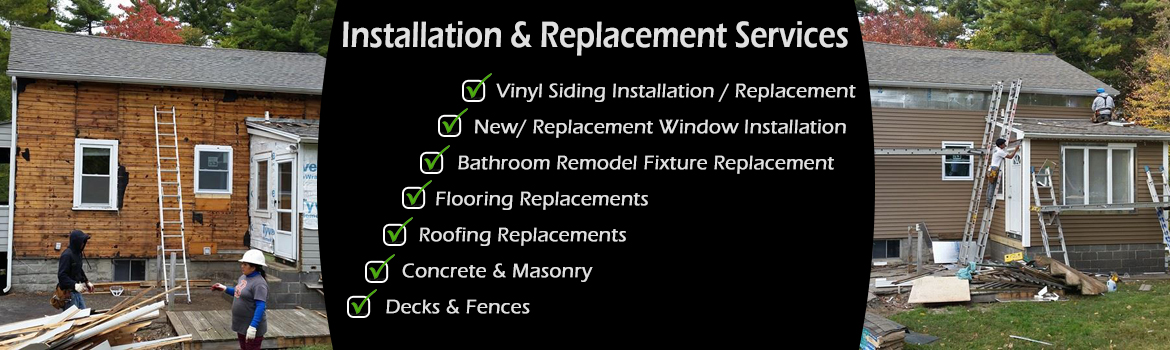 NH Siding, Windows, Furnaces & Heating, Flooring, Roofing, Concrete, Masonry, Decks, Fences Installation Replacement